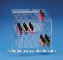 Clear Acrylic 6-tier Tattoo Ink Nail Polish Display Stand Rack Organizer Holder