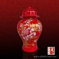 Design delicado de cor vermelha chinesa jar gengibre cerâmica