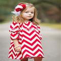 el precio de fábrica diseños de vestido de las niñas adolescentes patrones de vestido casual desgaste del bebé niñas chevron vestido de campesino