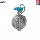 DN80 PN1.0MPa Triple Offset Double Flanged Type Bi-directional Metal-seated Butterfly Valve