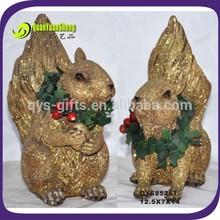 polyresin christmas glister squirrel ,Xmas decoration