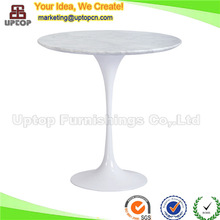 Hotel used coffee side table with white marble top (SP-GT353)