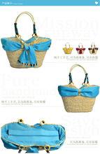 NICE Sale!!! Factory Price Straw bag, blue Tote Beach Bag