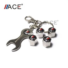 Decoration Screw car tire valves New Wrench Valve Cap Dust smart Car valves price Classic Silver 5pcs For Car Wheel