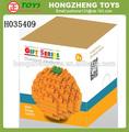 De color naranja tentador juguete bloque de construcción, de conexión de plástico juguetes, nuevos juguetes de los niños para 2015( 120pcs) h035409
