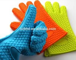 Five Finger Glove Silicone Oven Baking glove ,BBQ mitt,heat resistant grill glove