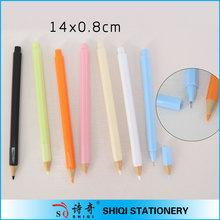 Fashional Plastic colorful pencil shape fine ink pen