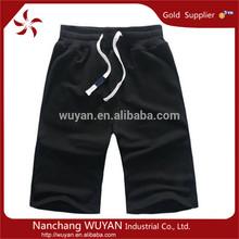 2014 custom mens casual cotton jogging capri pant for running half length trouser