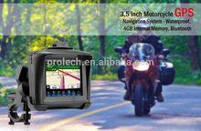 Fashion Design 3.5 inch Touch Screen Motor/Car Waterproof IPX7 Bluetooth GPS Navigation