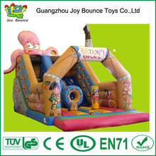 octopus inflatable slide,luxurious inflatable slide for kids,inflatable slide