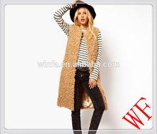 2014 New arrival Fake Lambs Wool fur vests /lamb fur vests women/ lamb fur waistcoat