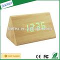 led despertador de madeira