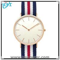 CE&RoHS Diamond Ladies Japan Movement Stainless Steel Luxury Men's Nylon Watch