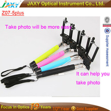 Promoting !!! Trend christmas gift 2014 Z07-5 plus Selfie Stick Cable Take Pole Monopod