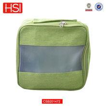 wholesale newest green cheap zipper pouches