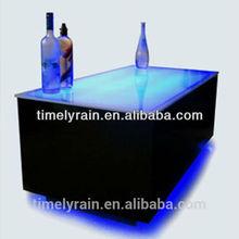 High quality led light furniture / led bar table /UPS battery powered LED light bar furniture China supplier