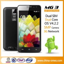 MG3 Cheap 5MP Camera GPS WCDMA 3G Hot Sale Latest china phone