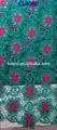 Cl4080- teal+fushia yeni arrail sıcak satış kord dantel, çiçek Nakışlı ve düz desen güzel soyunma