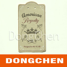 Brand Logo Personalized Fabric Hang Tag For Shoes/t-shirs In China