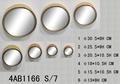 Gold set/7 metall wandspiegel dekoration& besten preis