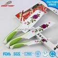 modelada estampados de flores de cerâmica faca talheres que nomes de utensílios de cozinha