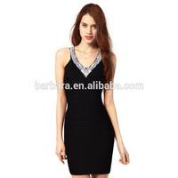 2014 Newly Elegant V-neck Open Breast Dress