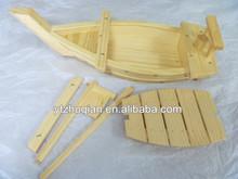 Eco-friendly Japanese wooden sushi boat craft with custom logo