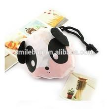 panda printed foldable shopping bag