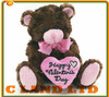 Pink & Brown Little Teddy Bear Happy Valentine's Day Plush Stuffed Animal Gift