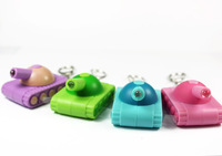 Cute Tank Led Keychain Novelty Promotional gifts