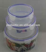 3pcs/set Wholesale Price Supermarke PP Plastics Round Design Vegtable preservation box