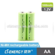 NiMH battery 1800mah AA 1.2v rechargable battery, OEM nimh battery pack
