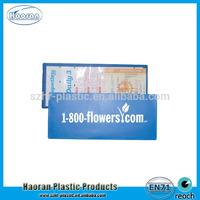 Cheap design Clear PVC plastic vinyl lottery ticket holder