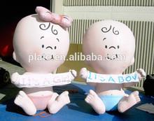 Advertising inflatable cartoon girl,inflatable baby boy