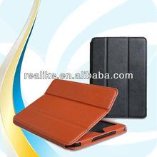 "Special latest unique design fold three stand 7.9"" tablet case for ipad mini 2"