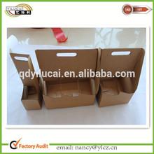 Custom printed cardboard 2 pack 4 pack 6 pack bottle carriers manufacturer