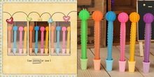 Rainbow color silicone pen