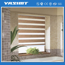 Double layber window shade zebra security blinds