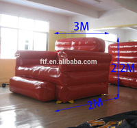 hot sale used rest cheap cube red giant inflatable chesterfield sofa for sale/promotion inflatable chesterfield sofa for adult