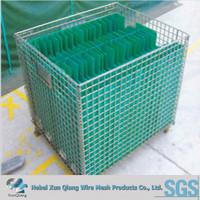 galvanized steel Wire Storage Cage / Warehouse Cage