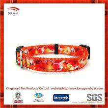 New design nylon with heattransfer pringting personalized dog collar