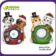 2014 resin dog&cat animal christmas decoration