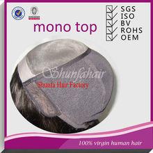 Mongolian virgin hair wigs,Full Lace Wig Technique mono wig,Wig Type and No Virgin Hair indian vigin mono wigs