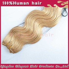 Hot New Products For 2014 Full Cuticle Smooth Black Body Wave Remy unprocessed blonde raw russian hair