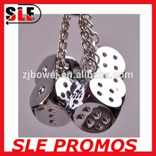 wholesale dice metal craft,metal dice keychain