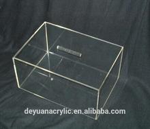 Acrílico distribuidor de doces caixa/distribuidor acrílico caixa/caixa de acrílico luva