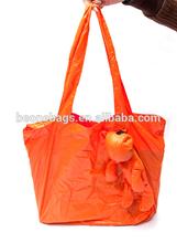Various Color Reusable Foldable Lovely Bear Shape Lady Hand Shopping Bag