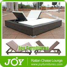 Double Sun Lounger Rattan Beds