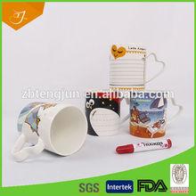 Magic Ceramic Mug , Write On Ceramic Mug For Valentine Gift
