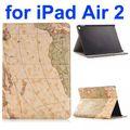 خريطة نمط حقيبة جلد الوجه تغطية ذكية لباد الهواء 2/ باد 6 والوقوف مع فتحات بطاقة